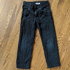 Gymboree black corduroy pants boys size 5